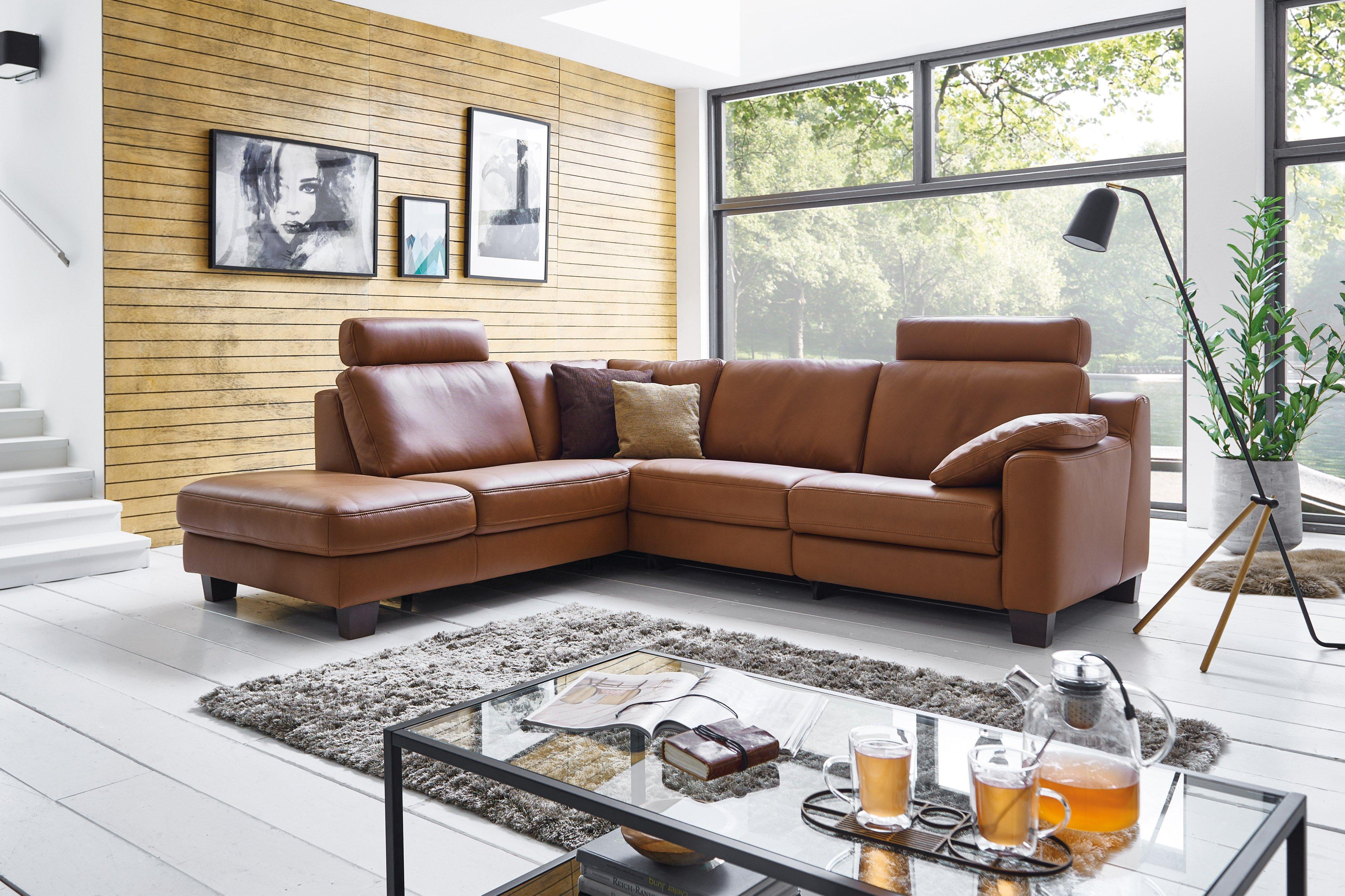 Hukla Sofaconcept Ledergarnitur In Braun Mobel Letz Ihr Online Shop
