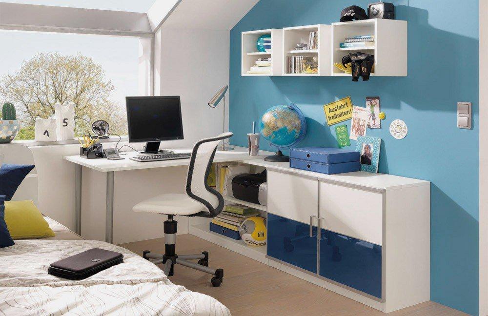 wellem bel finn jugendzimmer wei blau m bel letz ihr online shop. Black Bedroom Furniture Sets. Home Design Ideas