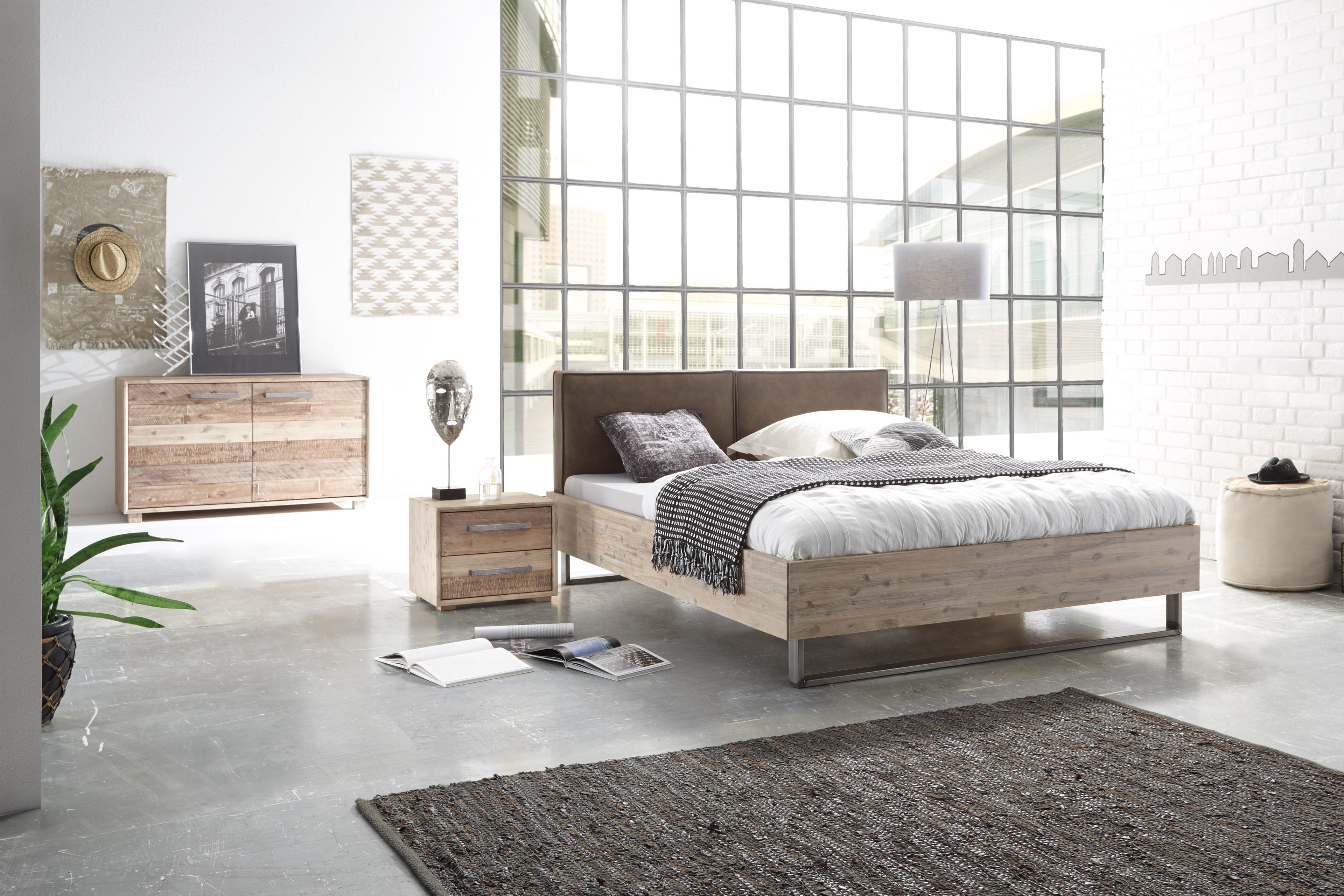 factory chic hasena bett indus akazie lackiert m bel. Black Bedroom Furniture Sets. Home Design Ideas