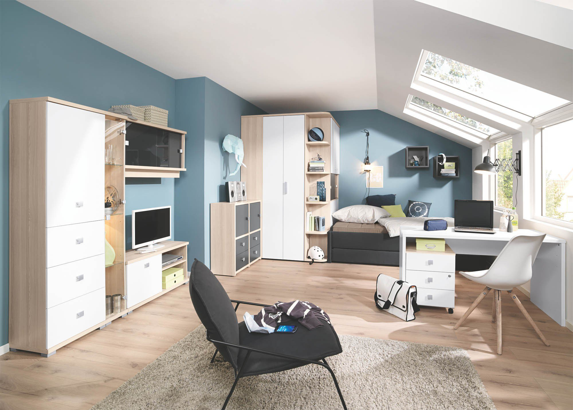 Welle jugendzimmer unlimited eckschrank liege m bel for Jugendzimmer shop