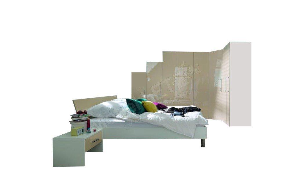Wellemöbel KSW 5+ Schlafzimmer macchiato Hochglanz | Möbel Letz ...