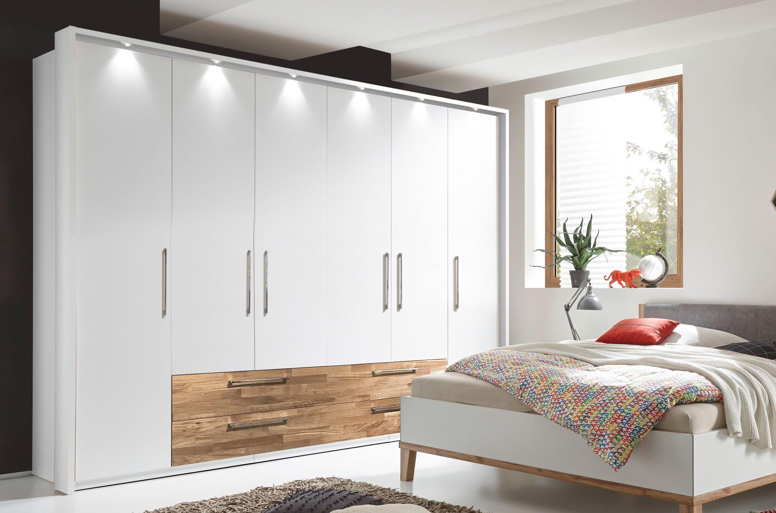 Amazing Schlafzimmer Kleiderschrank 6 Turig 2 #2: Air Von SchlafKONTOR - Schrank 6-türig Weiß - Akzente Eiche Mass