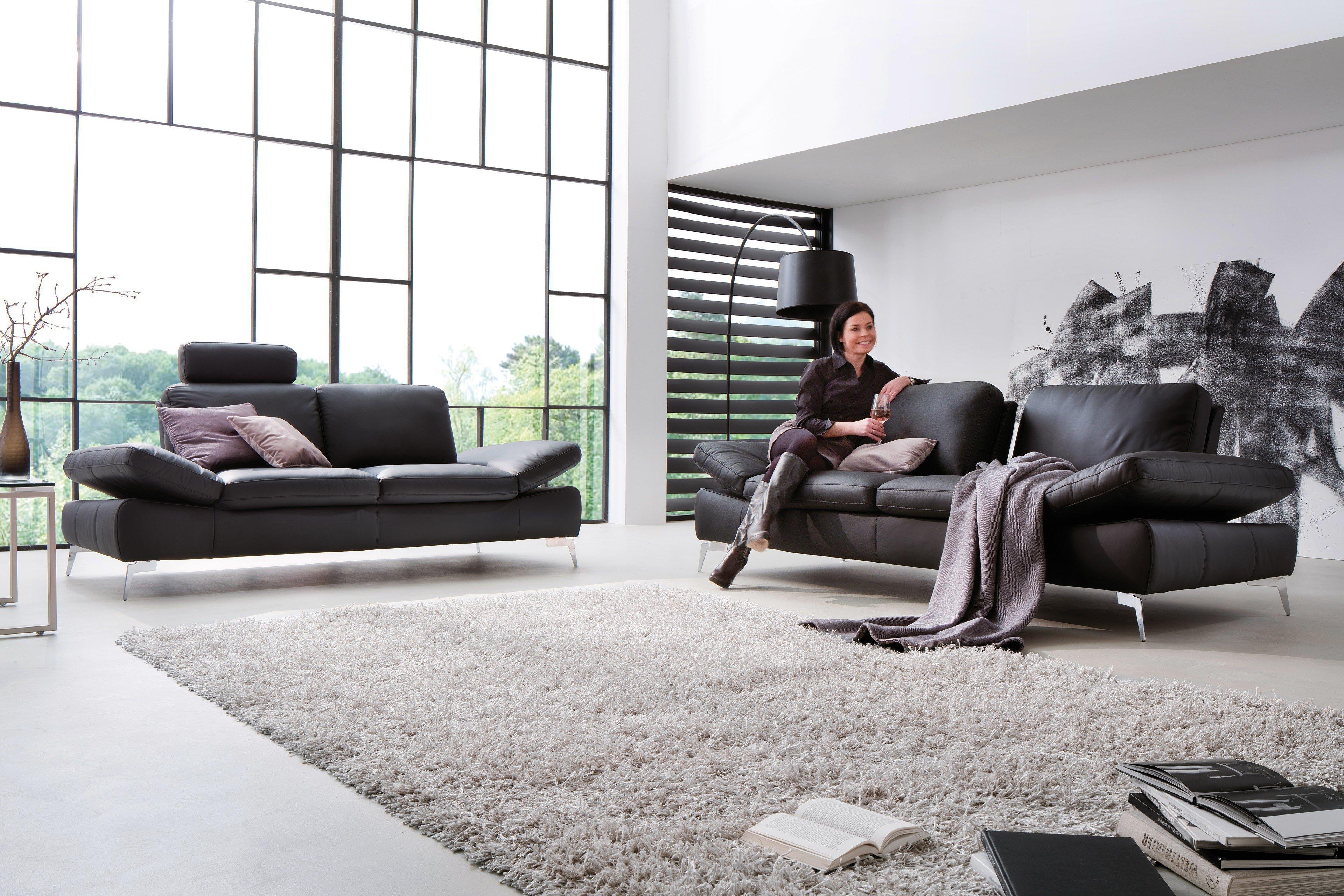Belair Von Dreisitz Design   Echtledergruppe Mokka