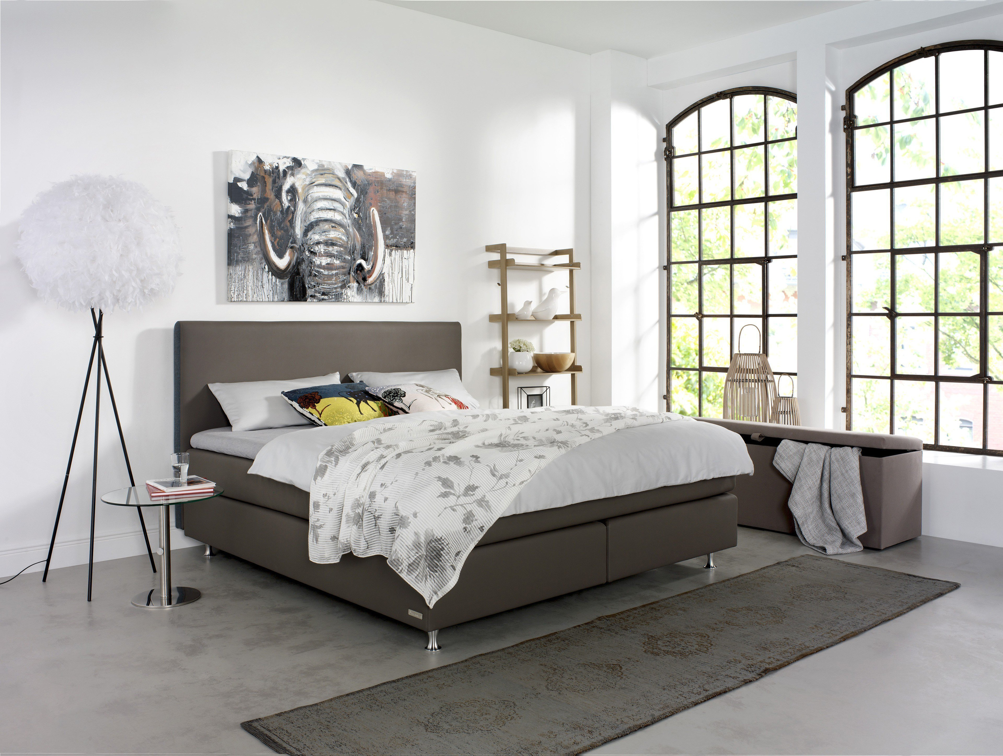 schlaraffia boxspringbett premiere in taupe m bel letz ihr online shop. Black Bedroom Furniture Sets. Home Design Ideas