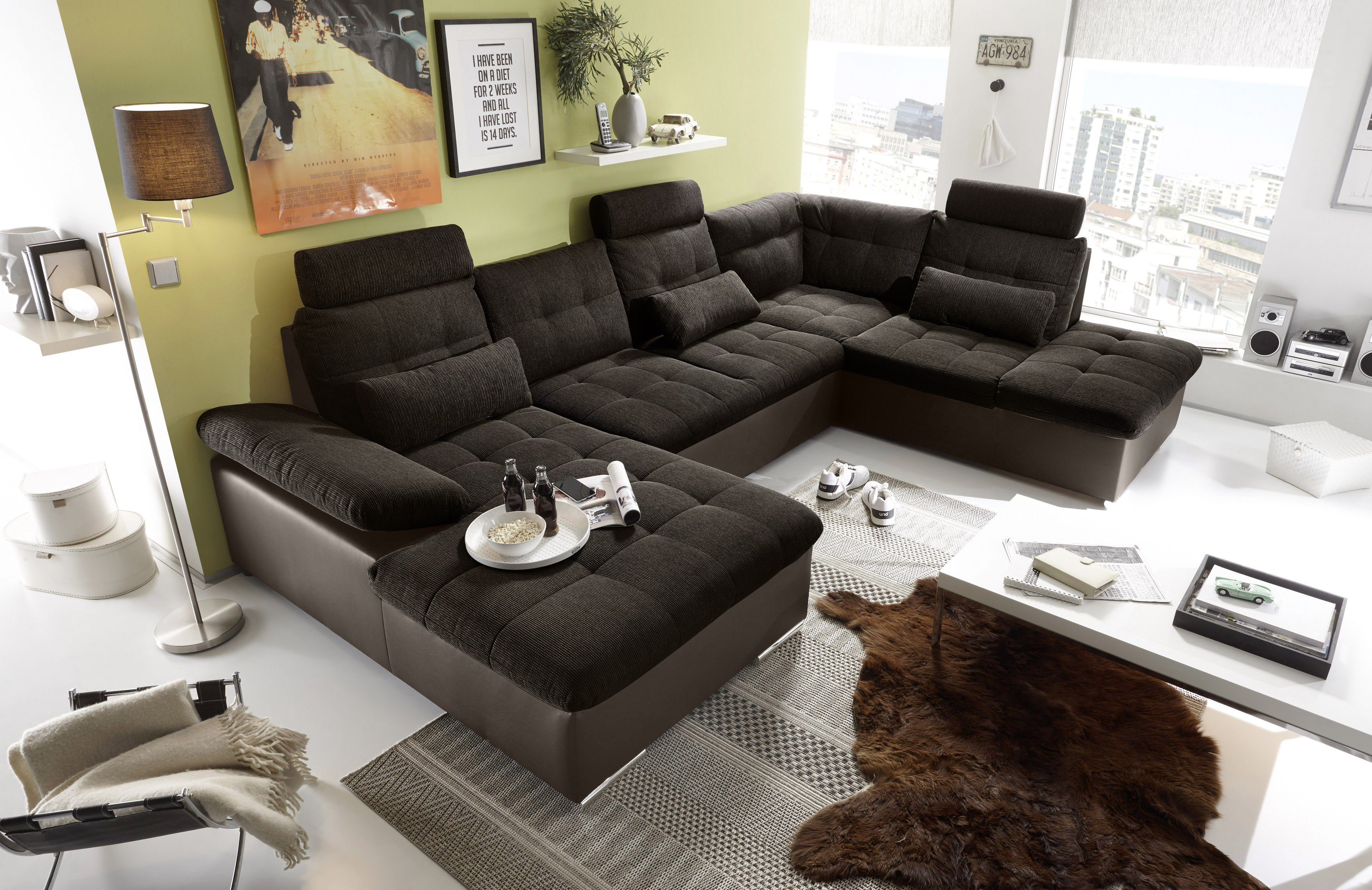 black red white jakarta xxl sofa braun chocolate m bel. Black Bedroom Furniture Sets. Home Design Ideas