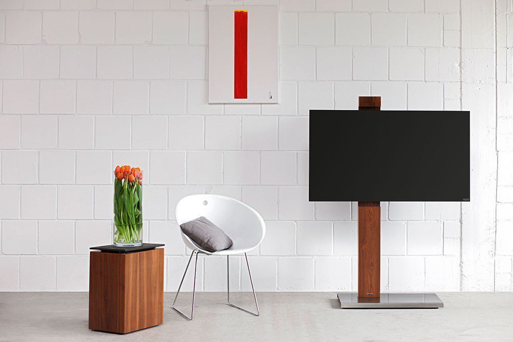 wissmann tv halter column art118 nussbaum m bel letz ihr online shop. Black Bedroom Furniture Sets. Home Design Ideas