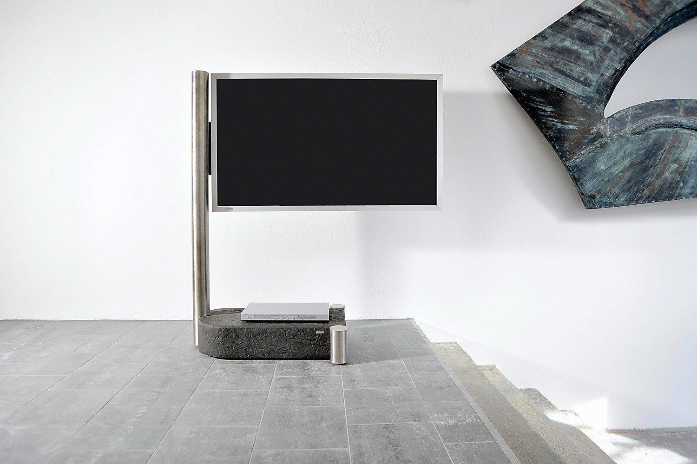 Wissmann TV-Halter Individual art110 Edelstahl/ Schiefer | Möbel ...