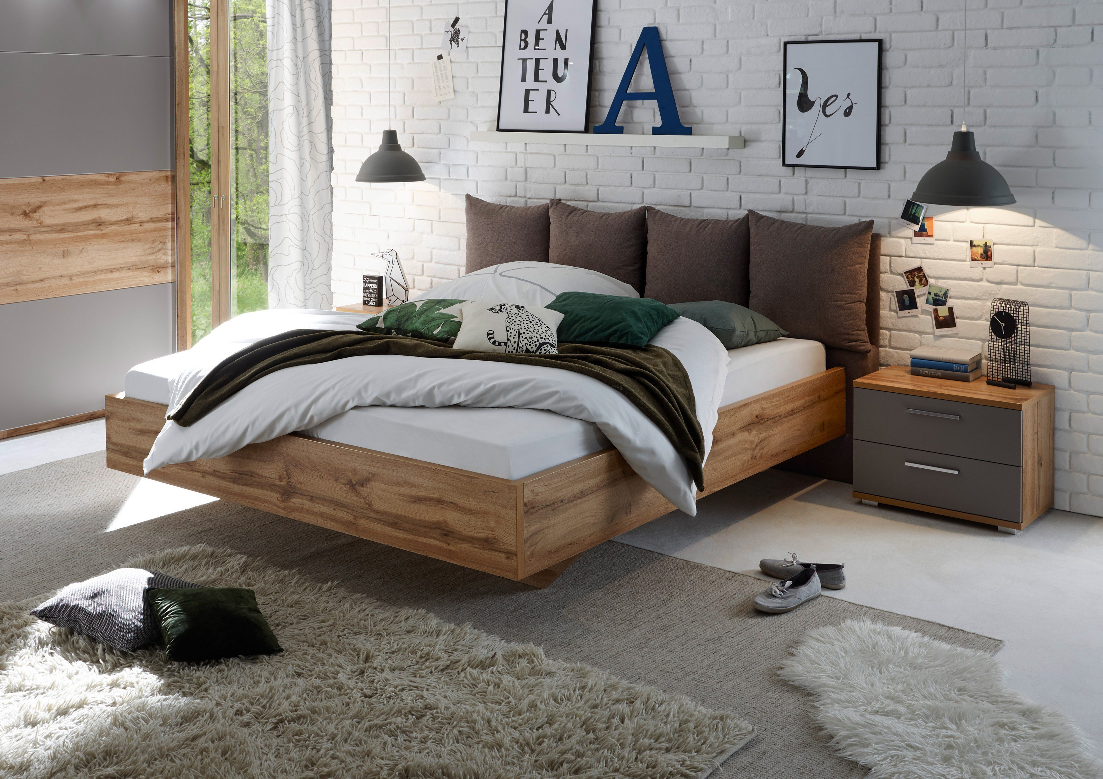 schlafkontor delta bett wildeiche basalt m bel letz ihr online shop. Black Bedroom Furniture Sets. Home Design Ideas