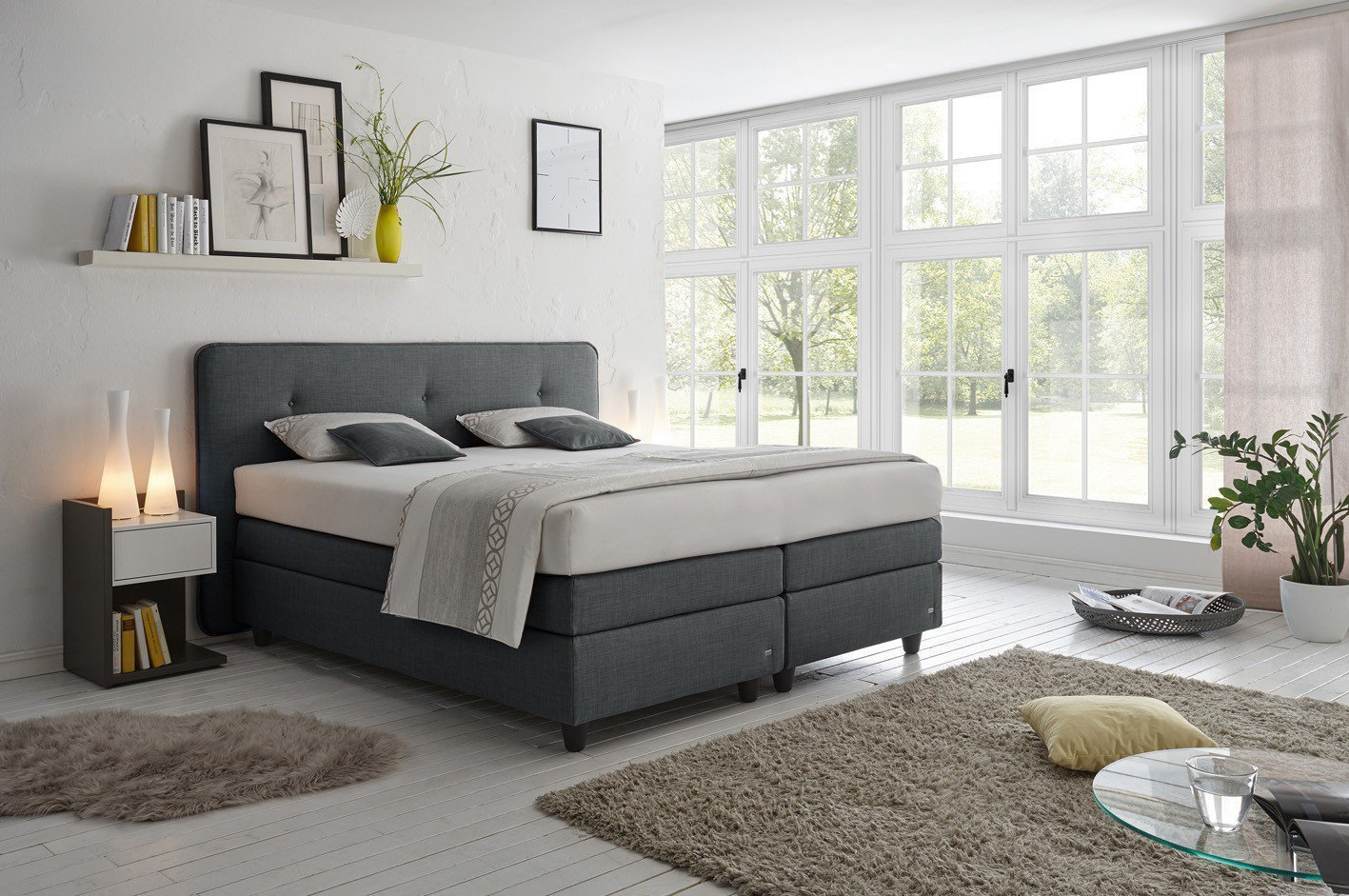 ruf modell vitessa boxspringbett in anthrazit m bel letz. Black Bedroom Furniture Sets. Home Design Ideas
