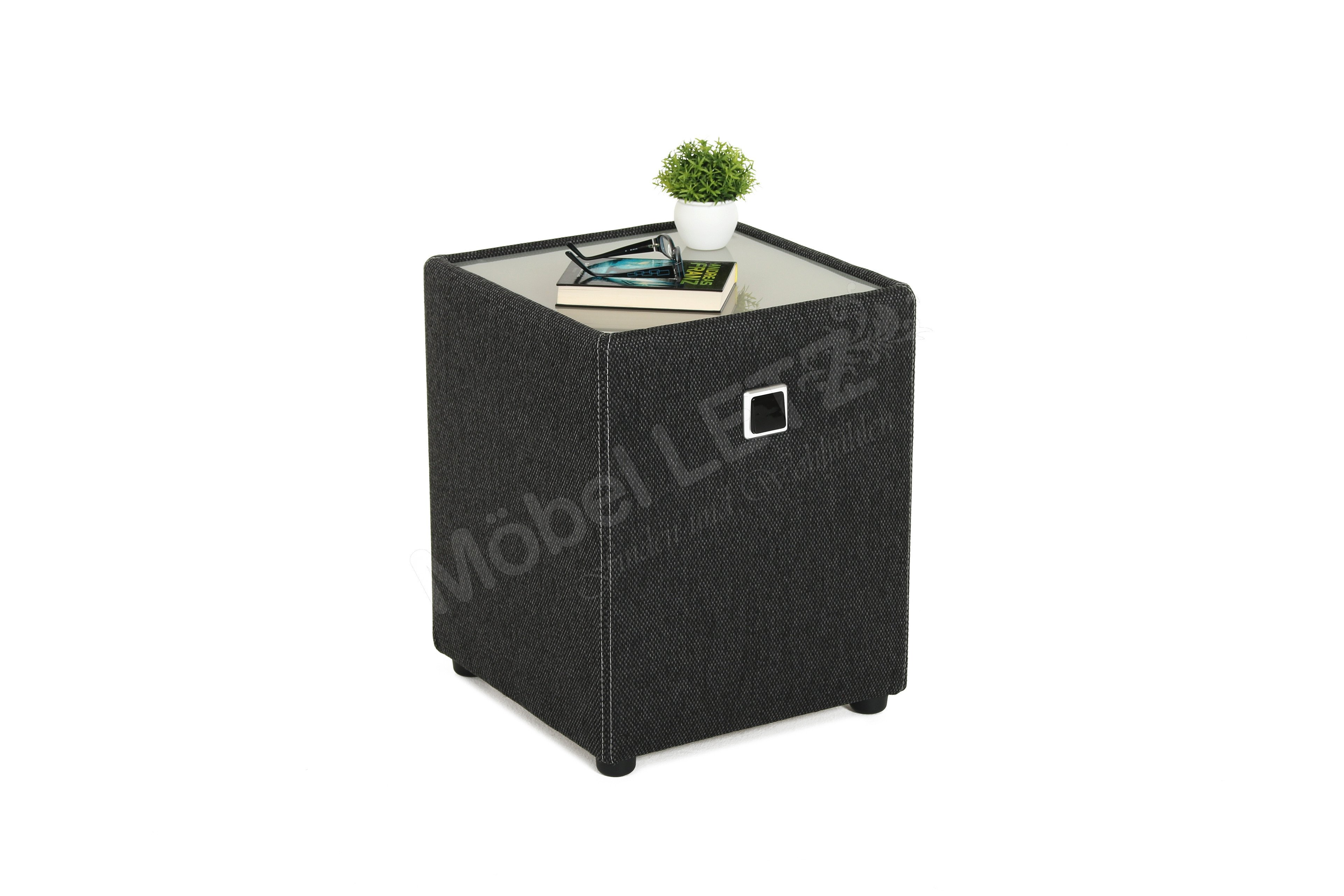 jockenh fer lightness nachtkonsole in schwarz mit beleuchtung m bel letz ihr online shop. Black Bedroom Furniture Sets. Home Design Ideas
