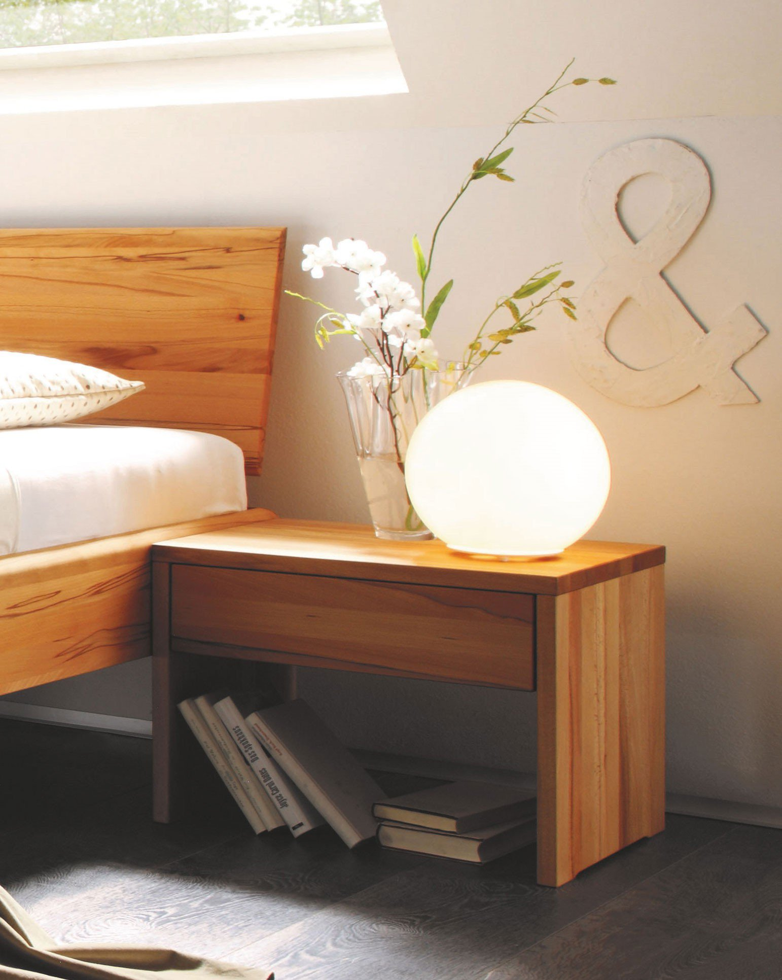 m h bett 1020 kernbuchenholz m bel letz ihr online shop. Black Bedroom Furniture Sets. Home Design Ideas