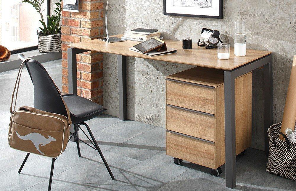 Maja 5015 Schreibtisch anthrazit-Eiche| Möbel Letz - Ihr Online-Shop
