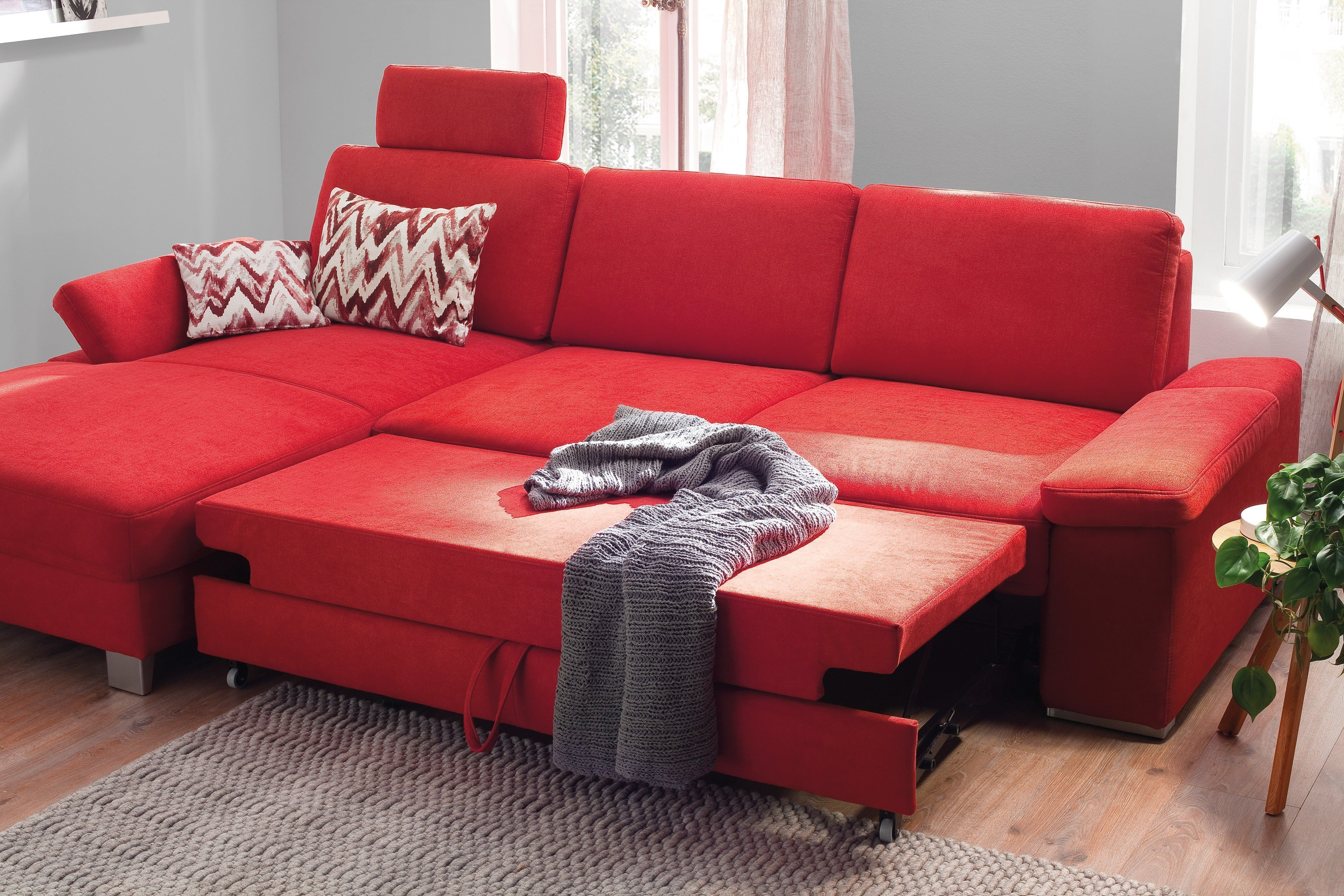 poco polsterm bel puzzle ecksofa in rot m bel letz ihr online shop. Black Bedroom Furniture Sets. Home Design Ideas
