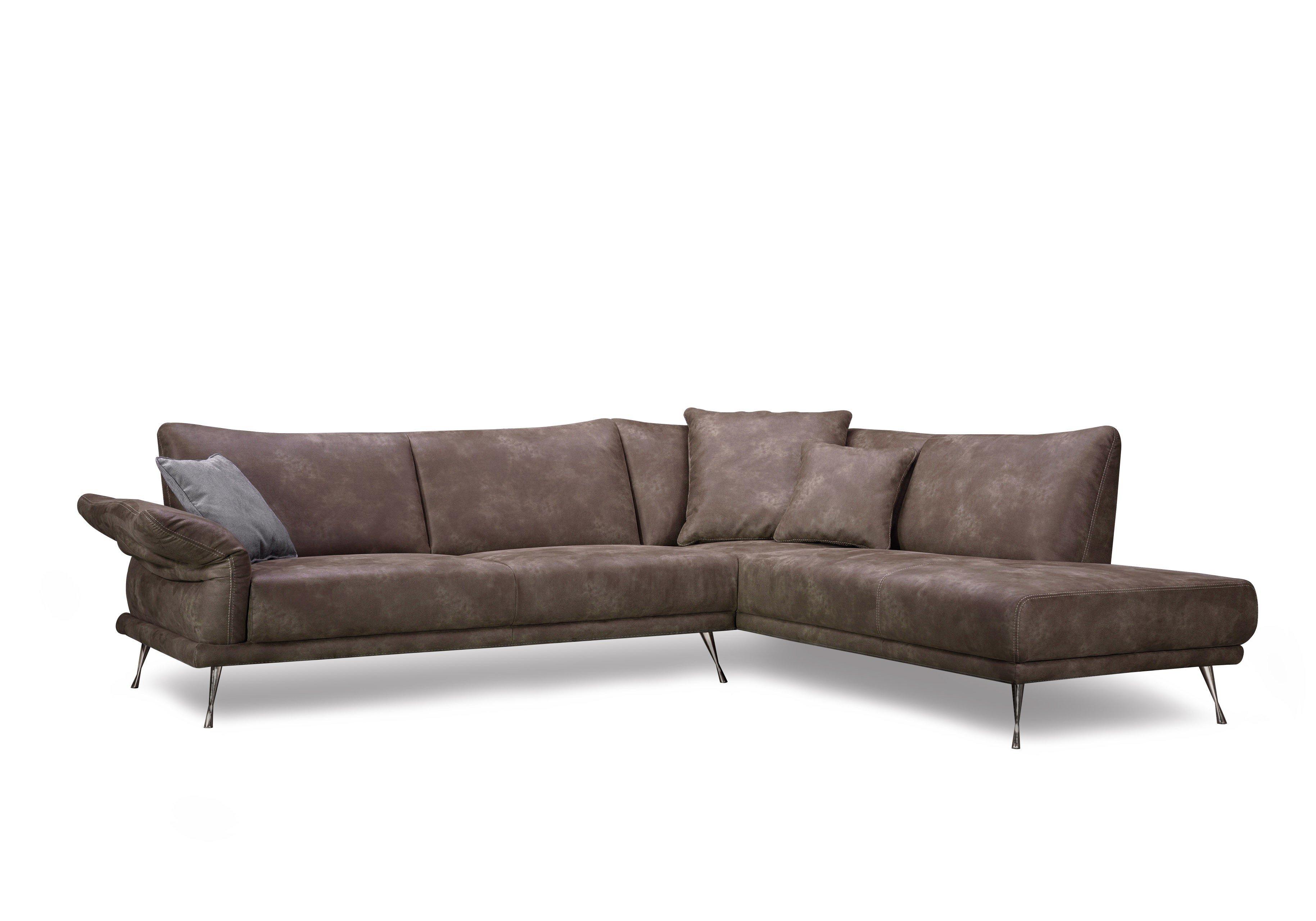 dreisitz design donani ecksofa in braun m bel letz ihr online shop. Black Bedroom Furniture Sets. Home Design Ideas
