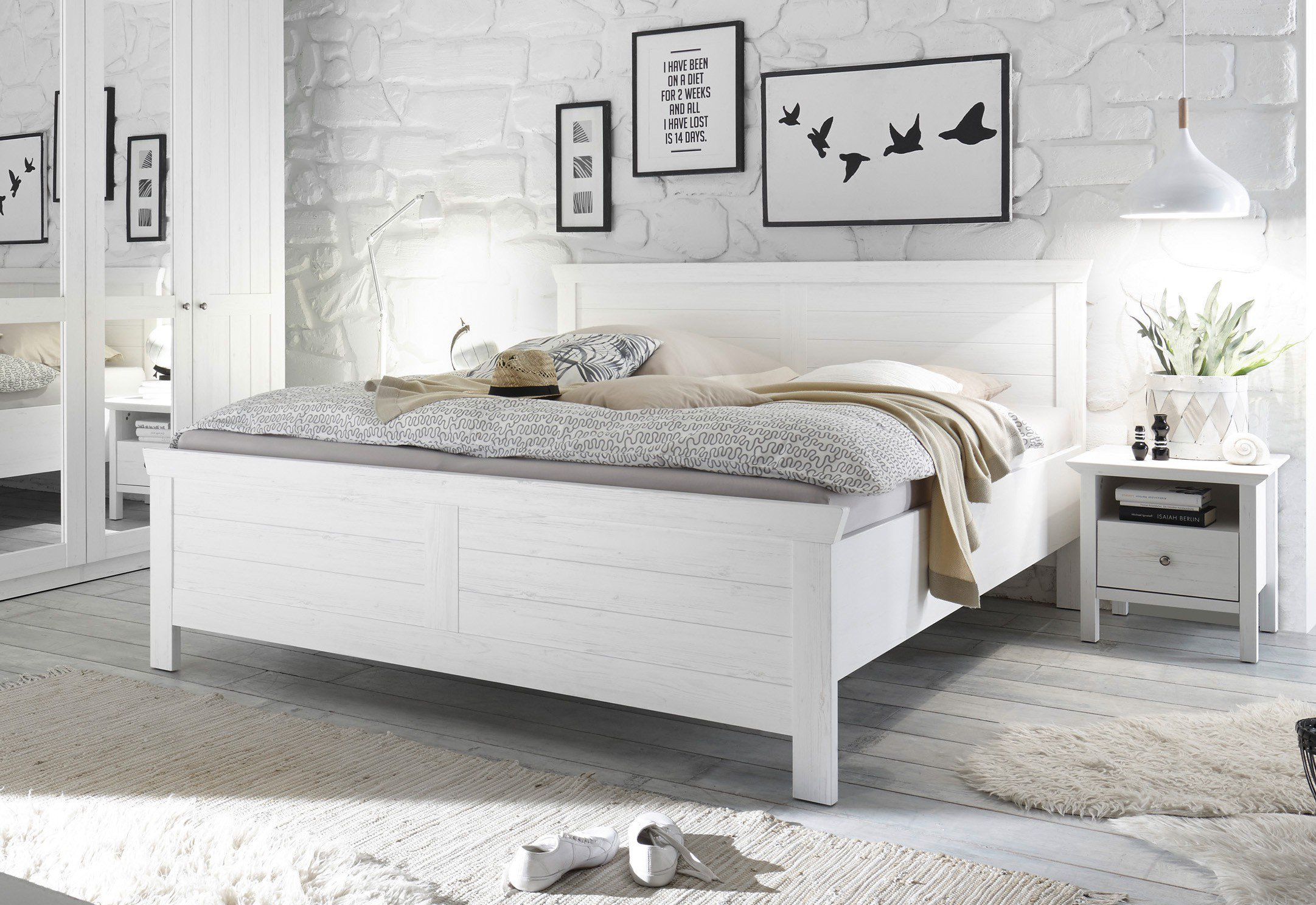 schlafkontor bellevue bett landhaus modern m bel letz ihr online shop. Black Bedroom Furniture Sets. Home Design Ideas