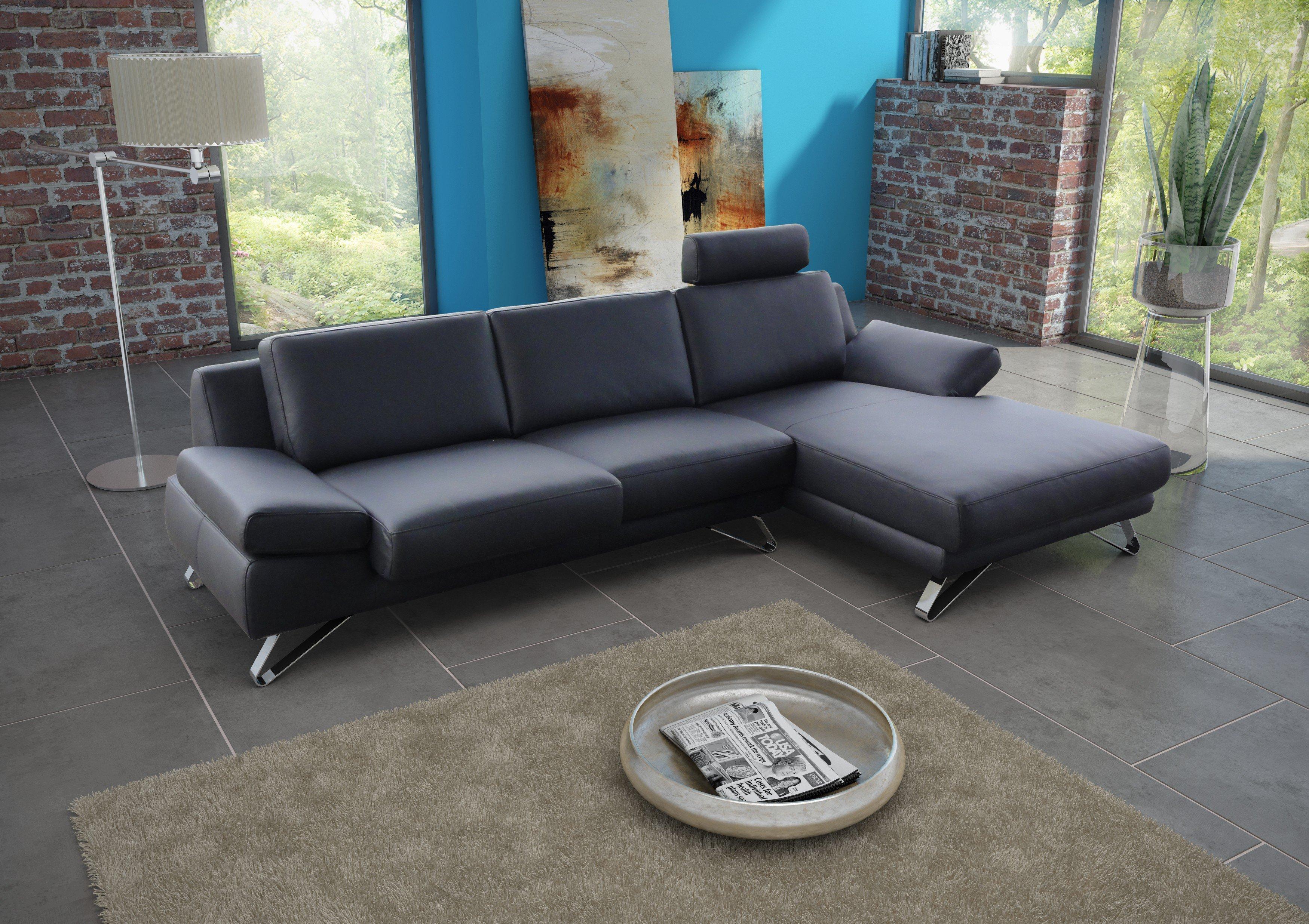 Dreisitz Design Finest Ecksofa schwarz | Möbel Letz - Ihr Online-Shop