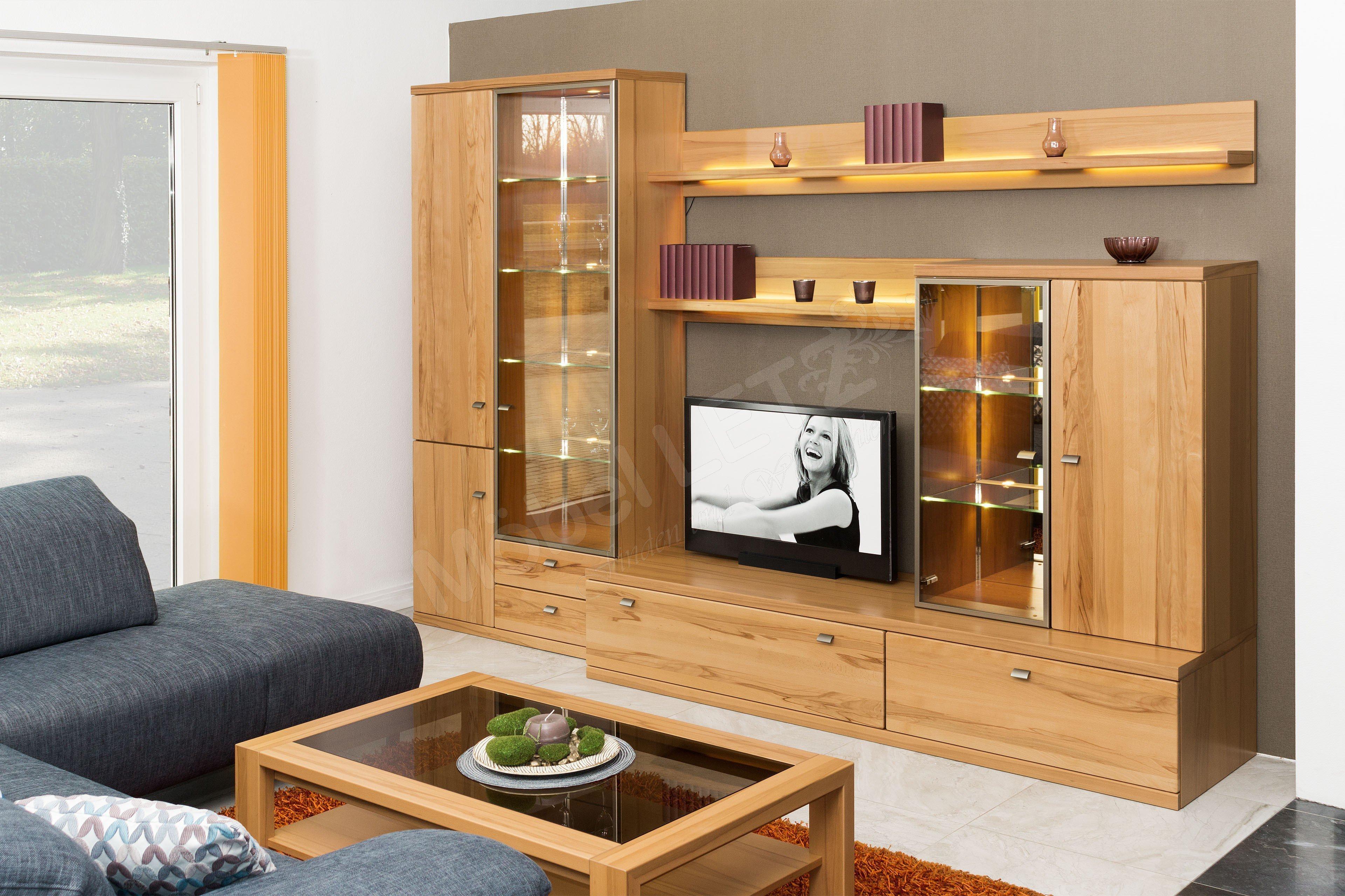 rietberger m belwerke wohnwand largo 6903 mit beleuchtung m bel letz ihr online shop. Black Bedroom Furniture Sets. Home Design Ideas