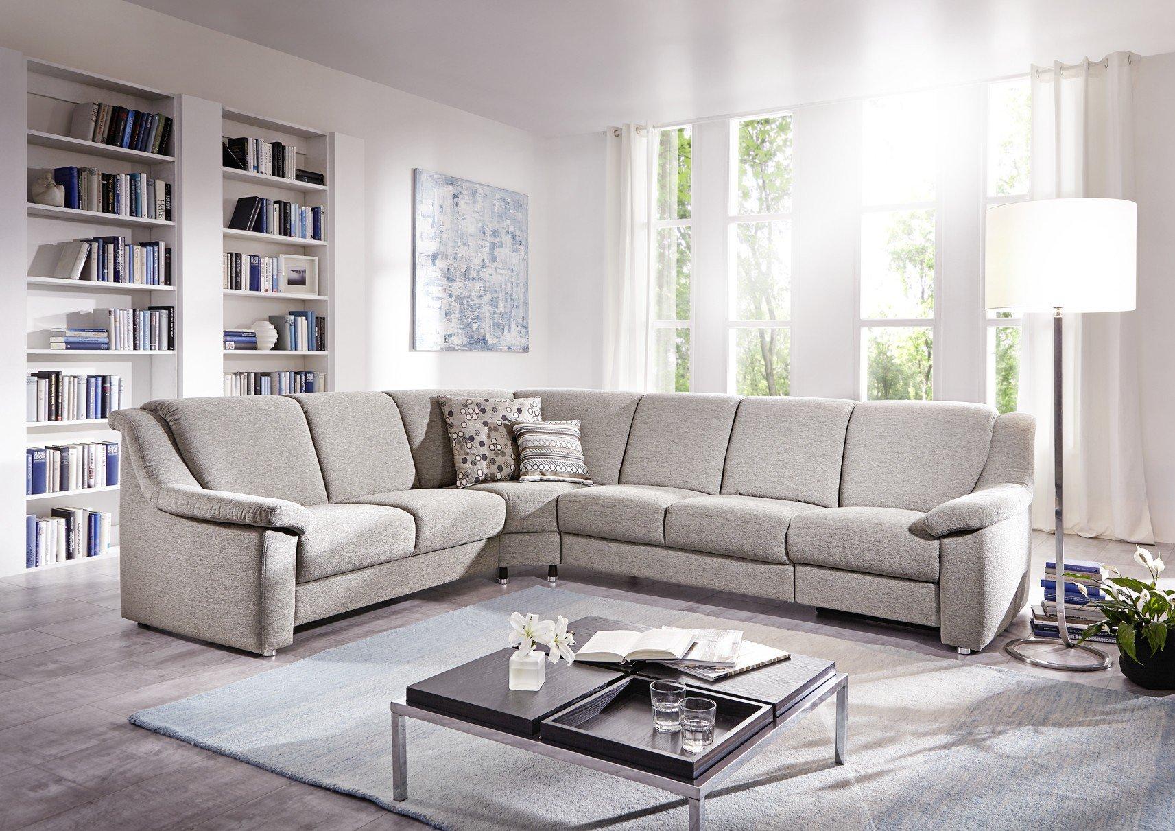 gruber polsterm bel genesis ecksofa in grau m bel letz ihr online shop. Black Bedroom Furniture Sets. Home Design Ideas