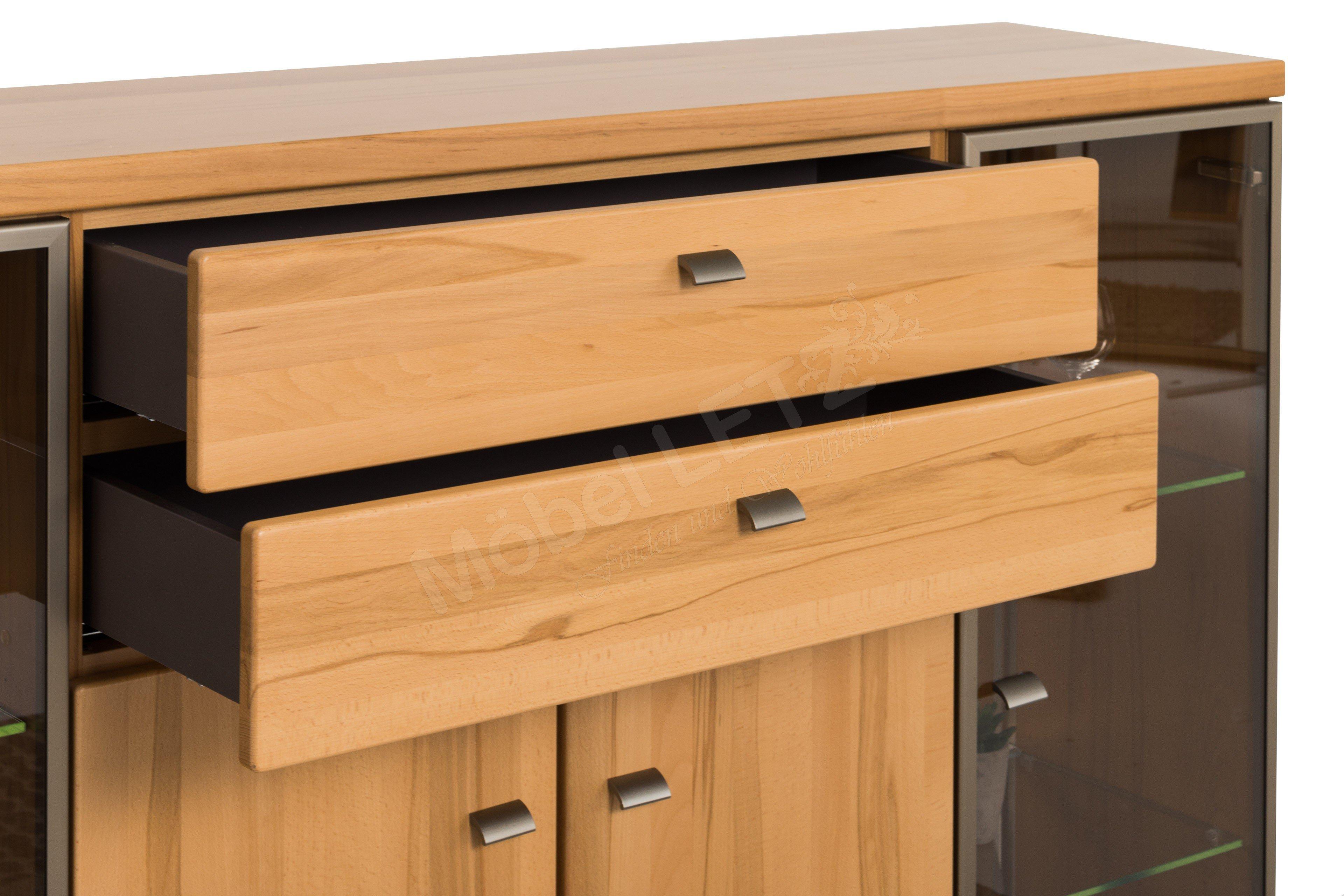 rietberger m belwerke highboard largo 6902 mit beleuchtung m bel letz ihr online shop. Black Bedroom Furniture Sets. Home Design Ideas