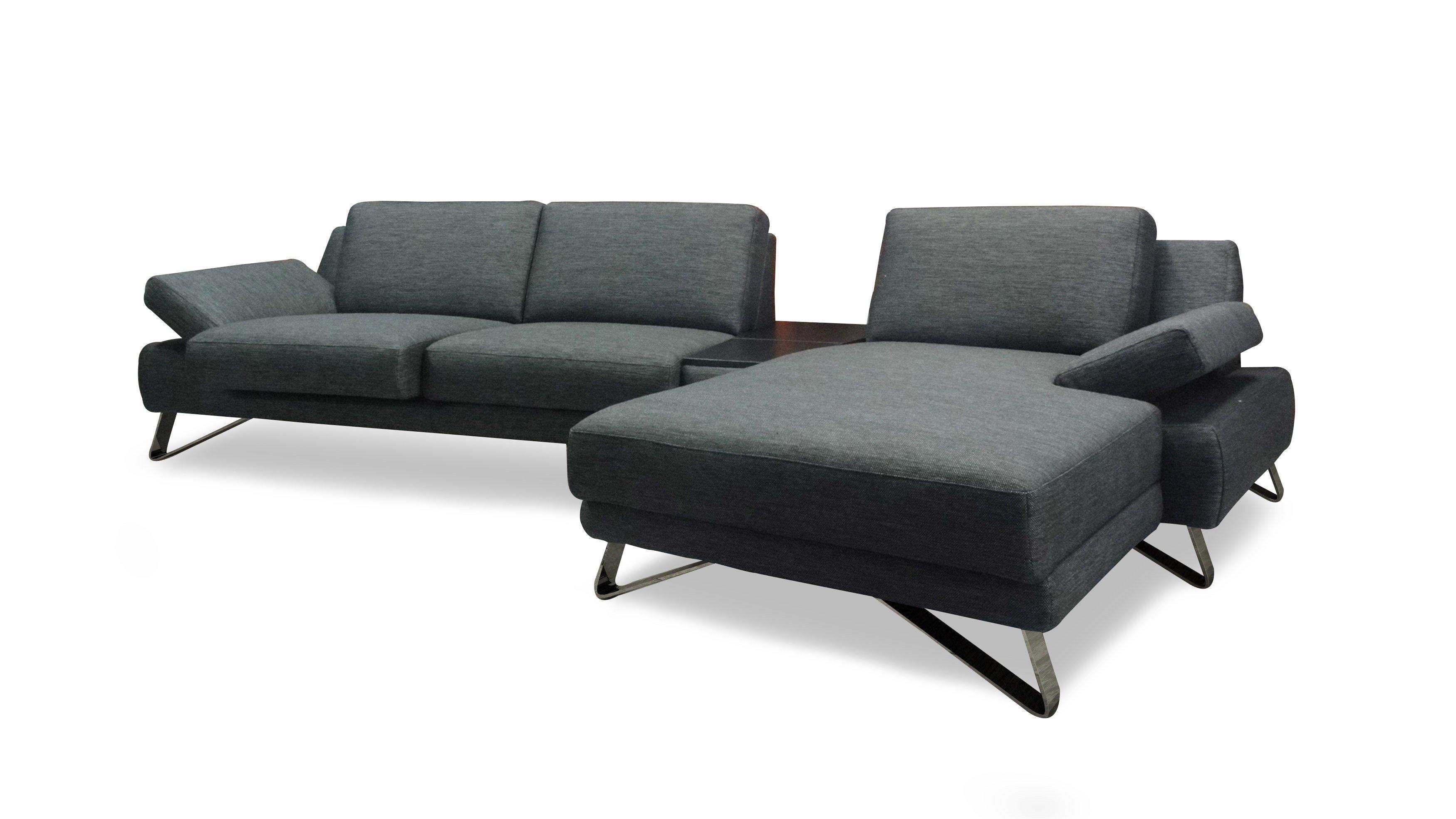 Eckcouch grau  Dreisitz Design Finest Ecksofa in Grau | Möbel Letz - Ihr Online-Shop