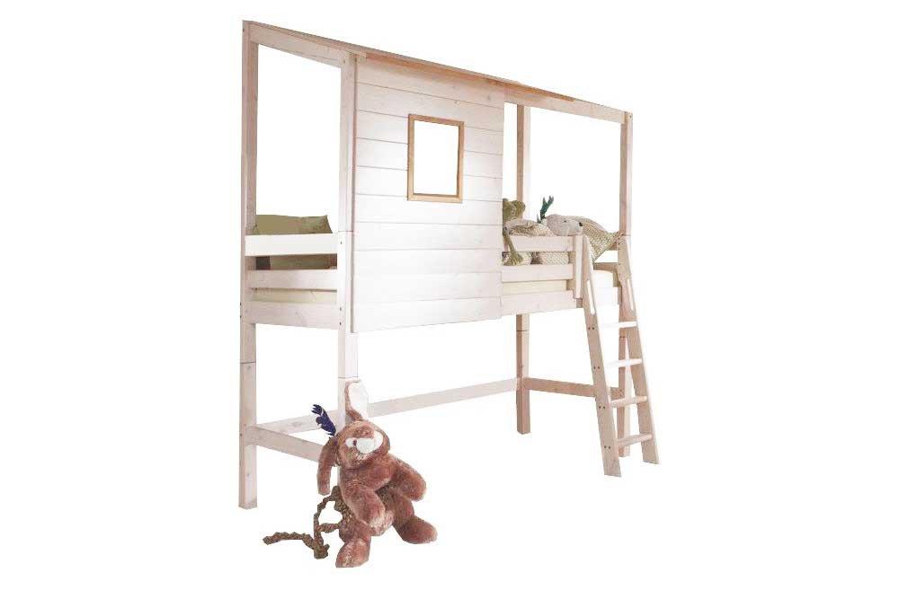 infanskids h ttenzauber bett mittelhoch wei kiefer m bel letz ihr online shop. Black Bedroom Furniture Sets. Home Design Ideas