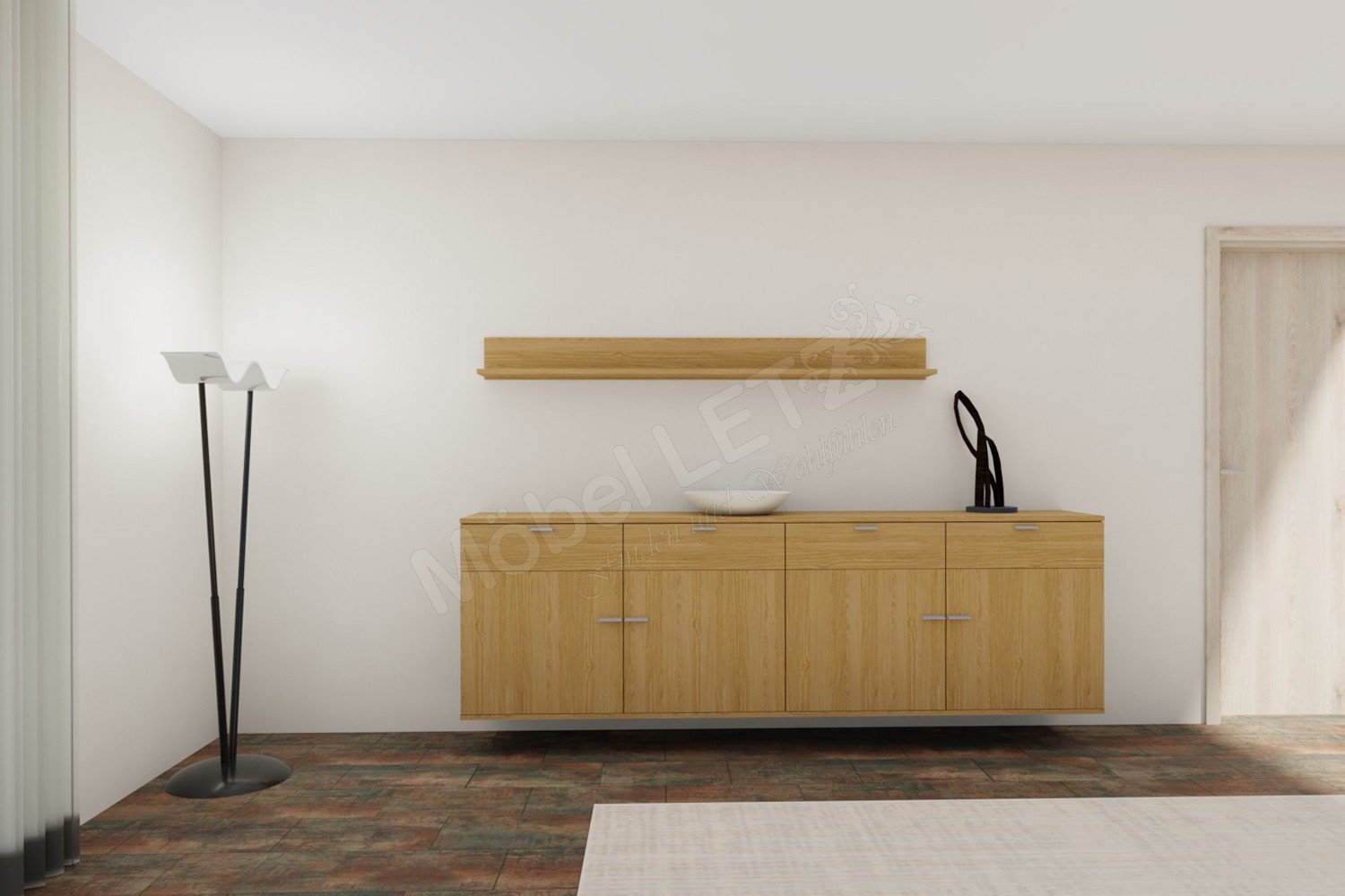 rietberger m belwerke sideboard lyon 23458 eiche sand m bel letz ihr online shop. Black Bedroom Furniture Sets. Home Design Ideas