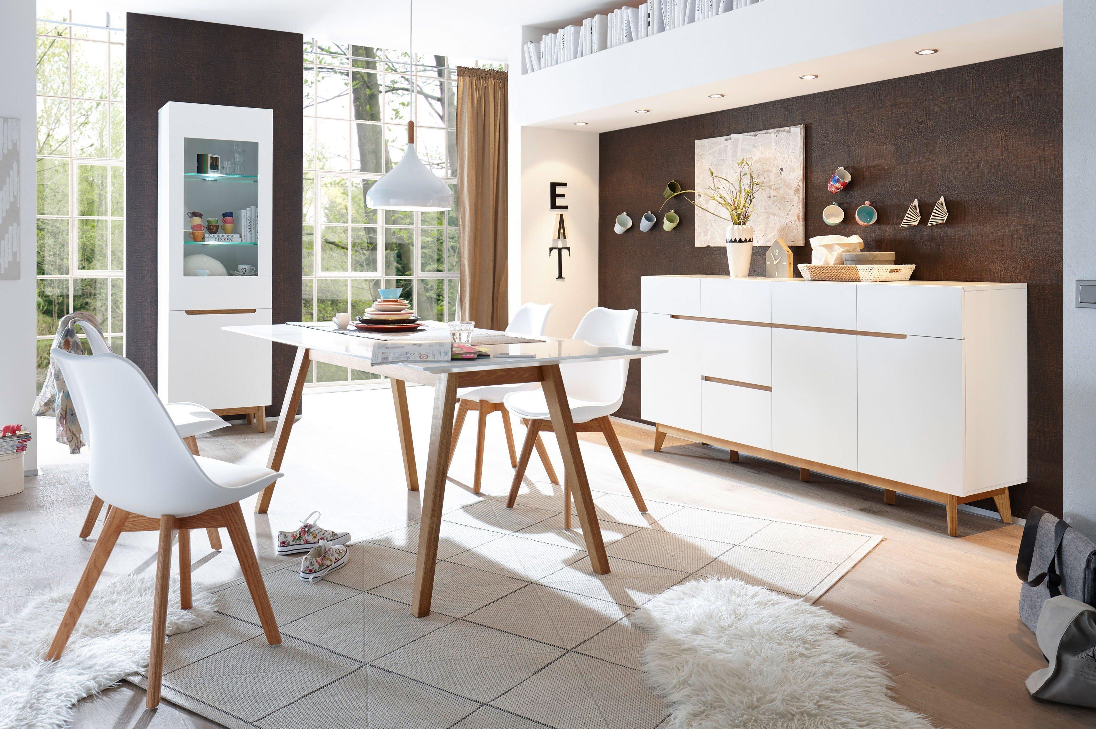 iNNOtrend by MCA furniture Esszimmer Cervo/ Griffith weiß/ Asteiche  Möbel Letz - Ihr Online-Shop