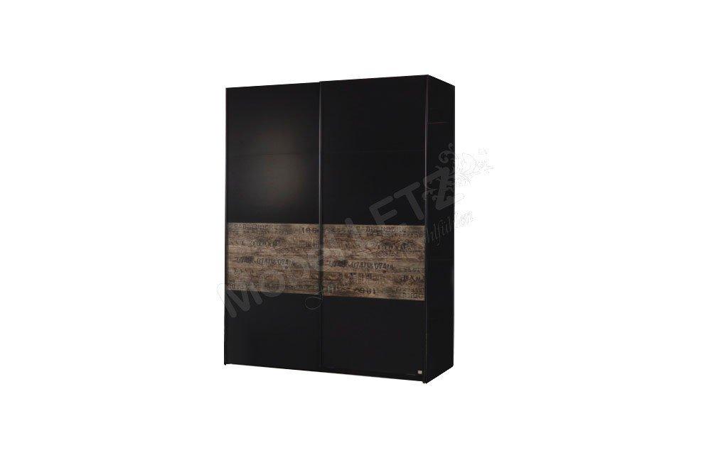 Rauch Kleiderschrank Sumatra schwarz - braun | Möbel Letz - Ihr ...