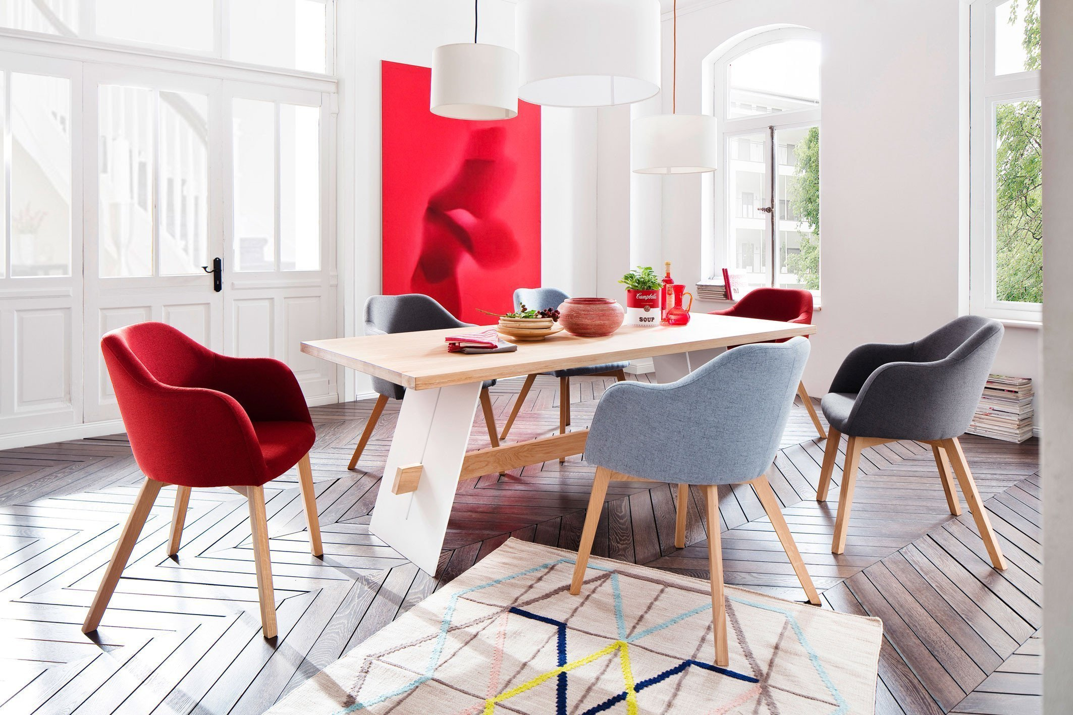 Esstisch eiche weiß  Standard Furniture Esstisch Aladin Eiche bianco/ weiß | Möbel Letz ...