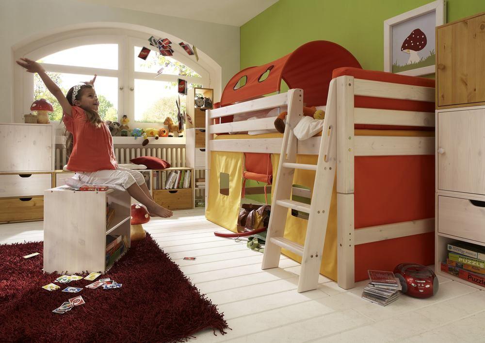 Hochbett Holz Massiv Weiß : Hochbett etagenbett milo a betten kinderbett