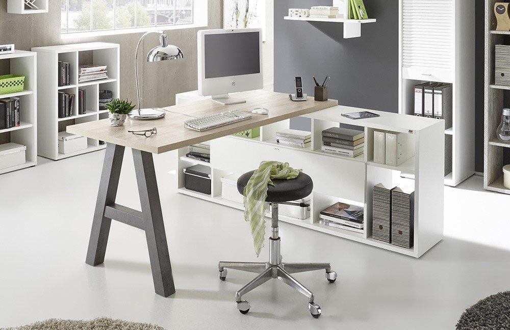 Mäusbacher Mister Office Schreibtisch mit Regal | Möbel ...