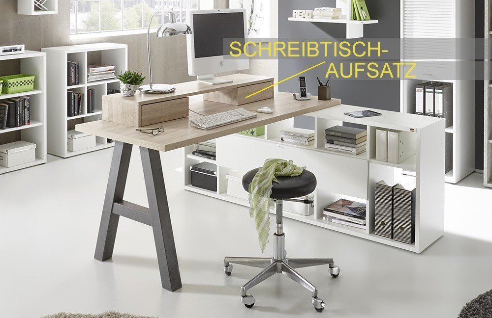 m usbacher mister office schreibtisch mit regal m bel. Black Bedroom Furniture Sets. Home Design Ideas