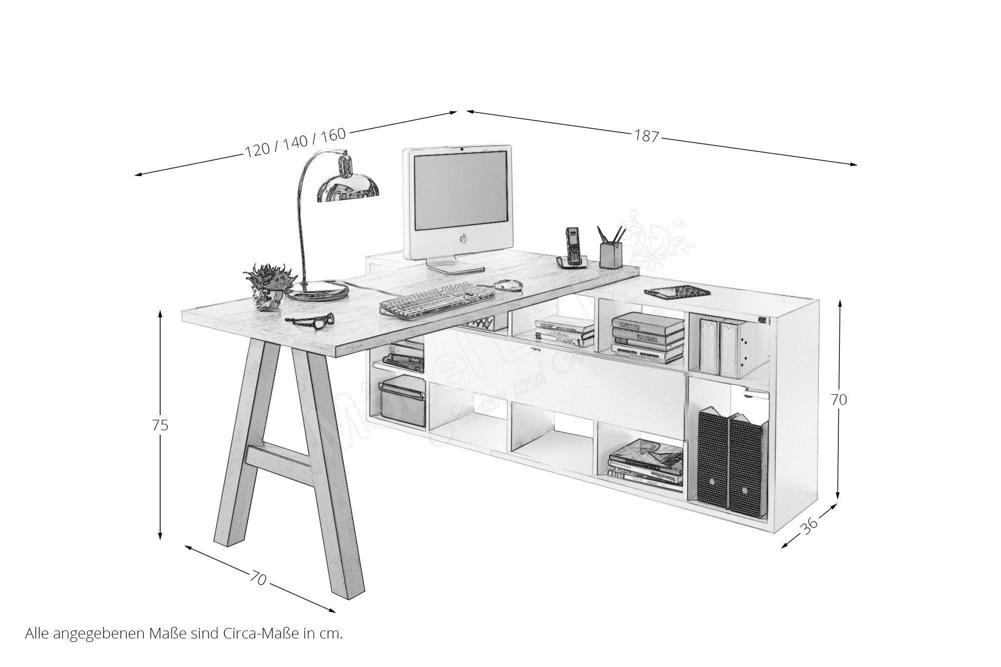 m usbacher mister office schreibtisch mit regal m bel. Black Bedroom Furniture Sets. Home Design Ideas