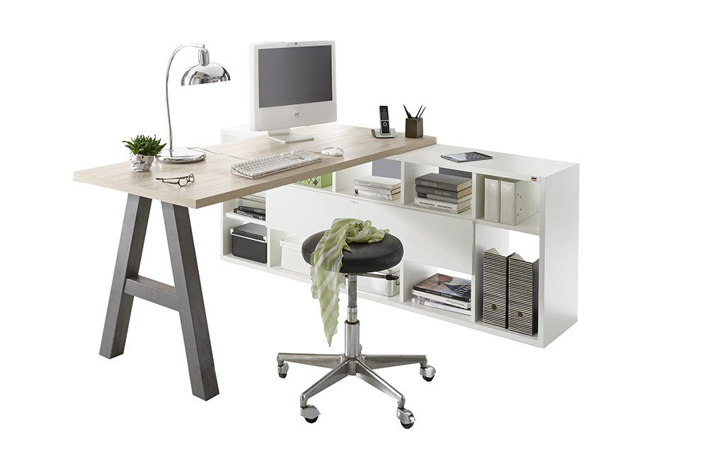 m usbacher mister office schreibtisch mit regal m bel letz ihr online shop. Black Bedroom Furniture Sets. Home Design Ideas