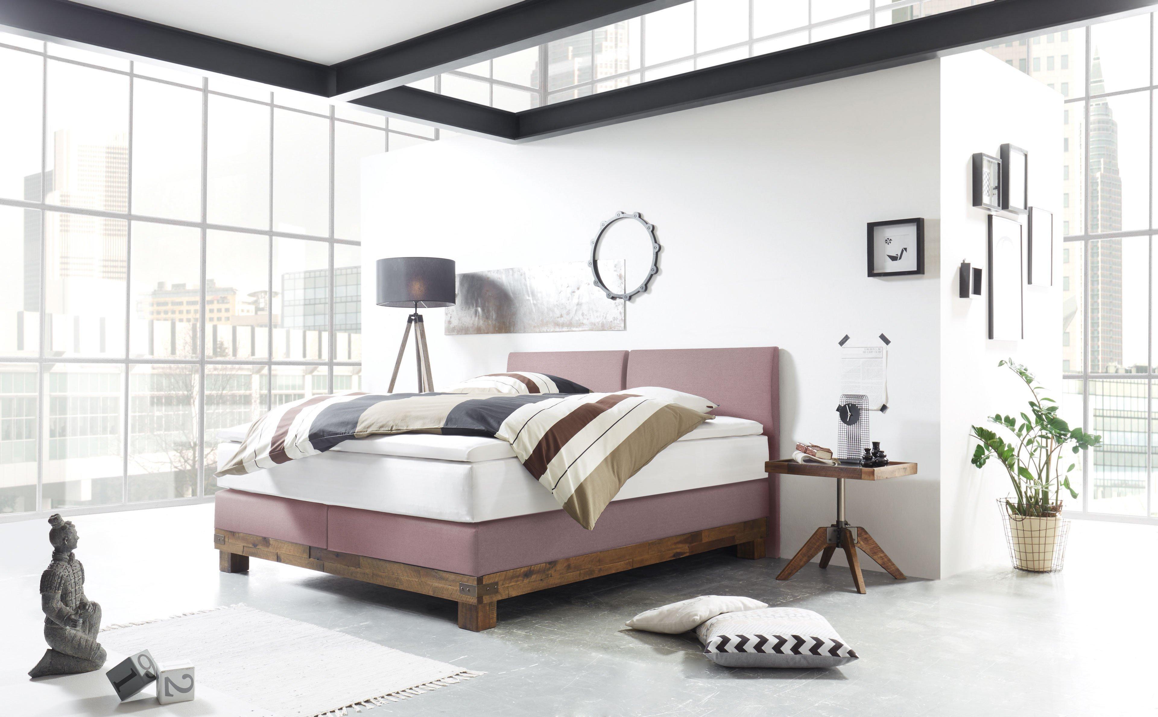 hasena factory monaco boxspringbett in einem zarten. Black Bedroom Furniture Sets. Home Design Ideas
