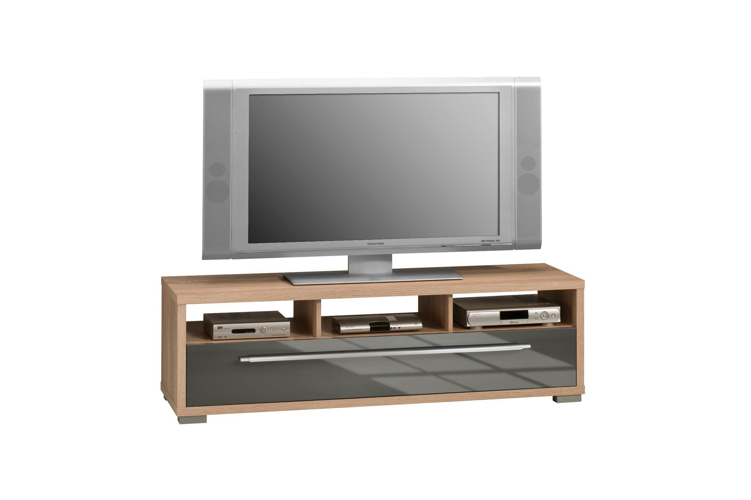 maja m bel lowboard 7645 wei schwarz m bel letz ihr. Black Bedroom Furniture Sets. Home Design Ideas