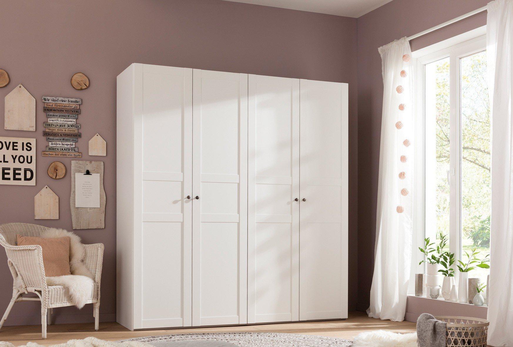 Kleiderschrank weiß landhausstil  Jumek Doppelbett Eva weiß/ laugenfarbig | Möbel Letz - Ihr Online-Shop