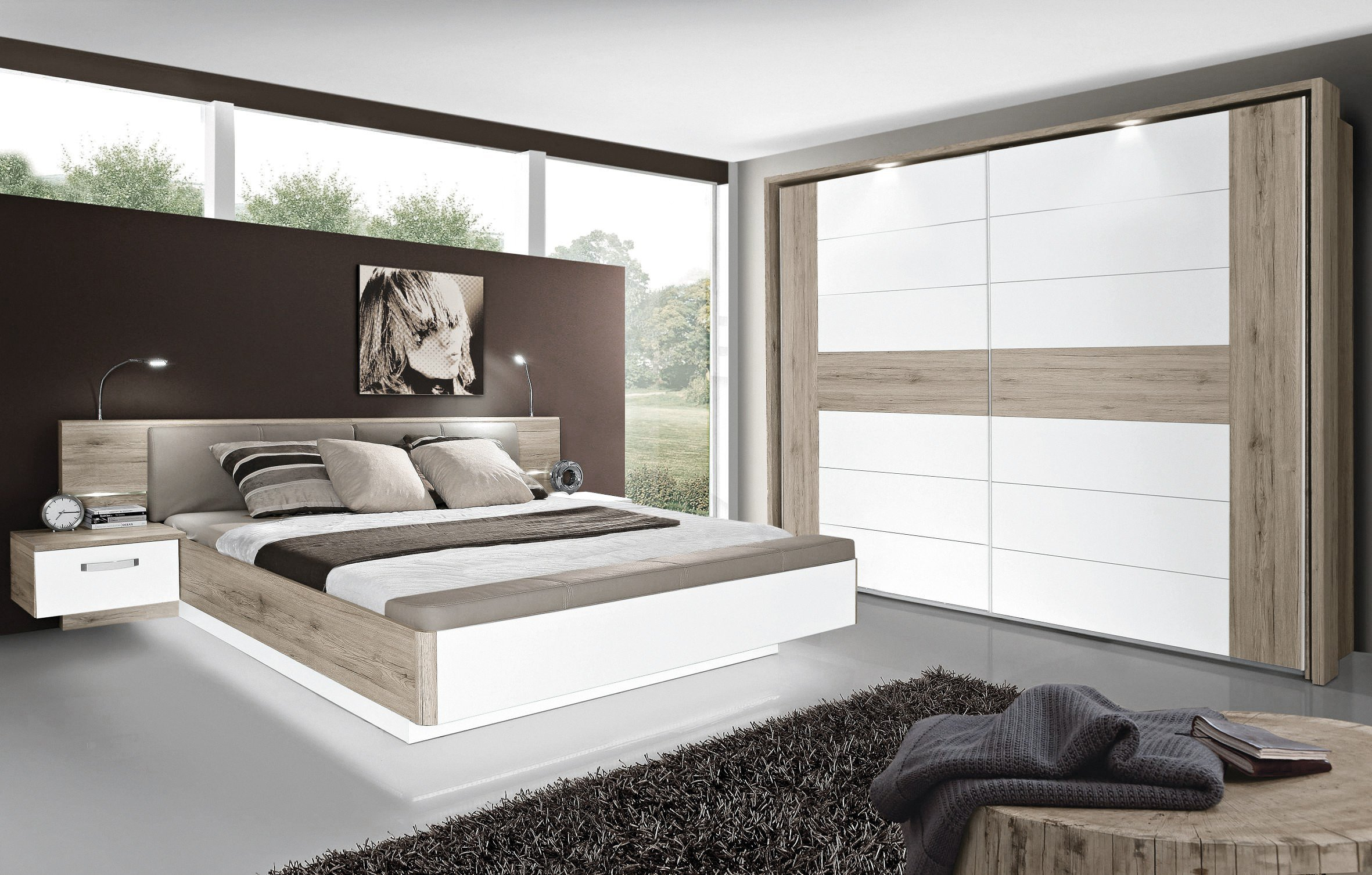 rondino von forte schlafzimmer beton optik wei m bel letz ihr online shop. Black Bedroom Furniture Sets. Home Design Ideas