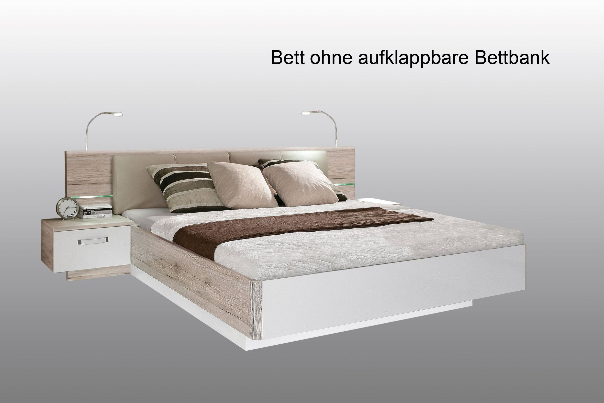 forte bett rondino wei hochglanz sandeiche nachbildung m bel letz ihr online shop. Black Bedroom Furniture Sets. Home Design Ideas