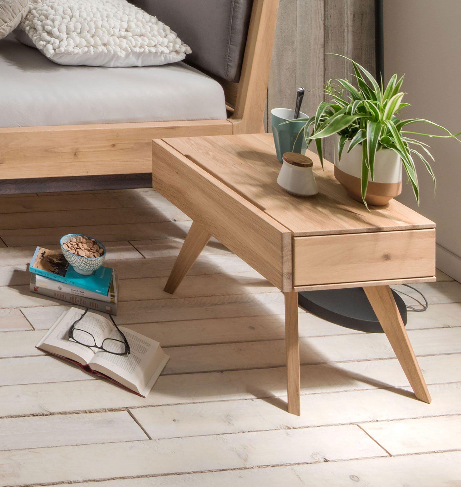 m h holzbett sarafina wildeiche bianco m bel letz ihr online shop. Black Bedroom Furniture Sets. Home Design Ideas