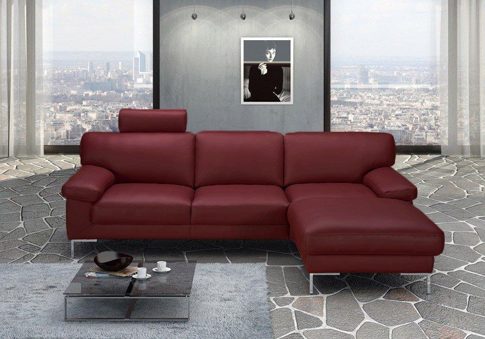 Dreisitz Design Timeless Polstersofa In Rot Mobel Letz Ihr