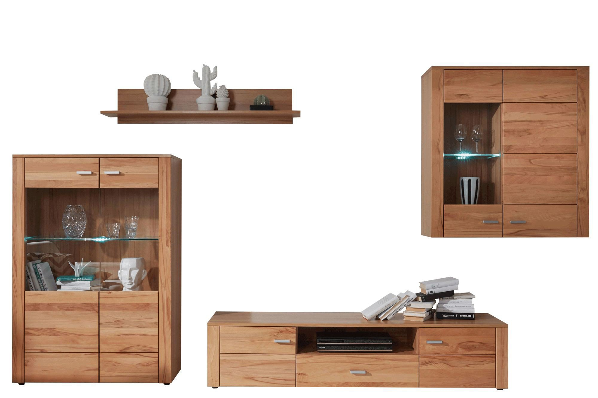 hbz meble wohnwand donau kernbuche m bel letz ihr online shop. Black Bedroom Furniture Sets. Home Design Ideas