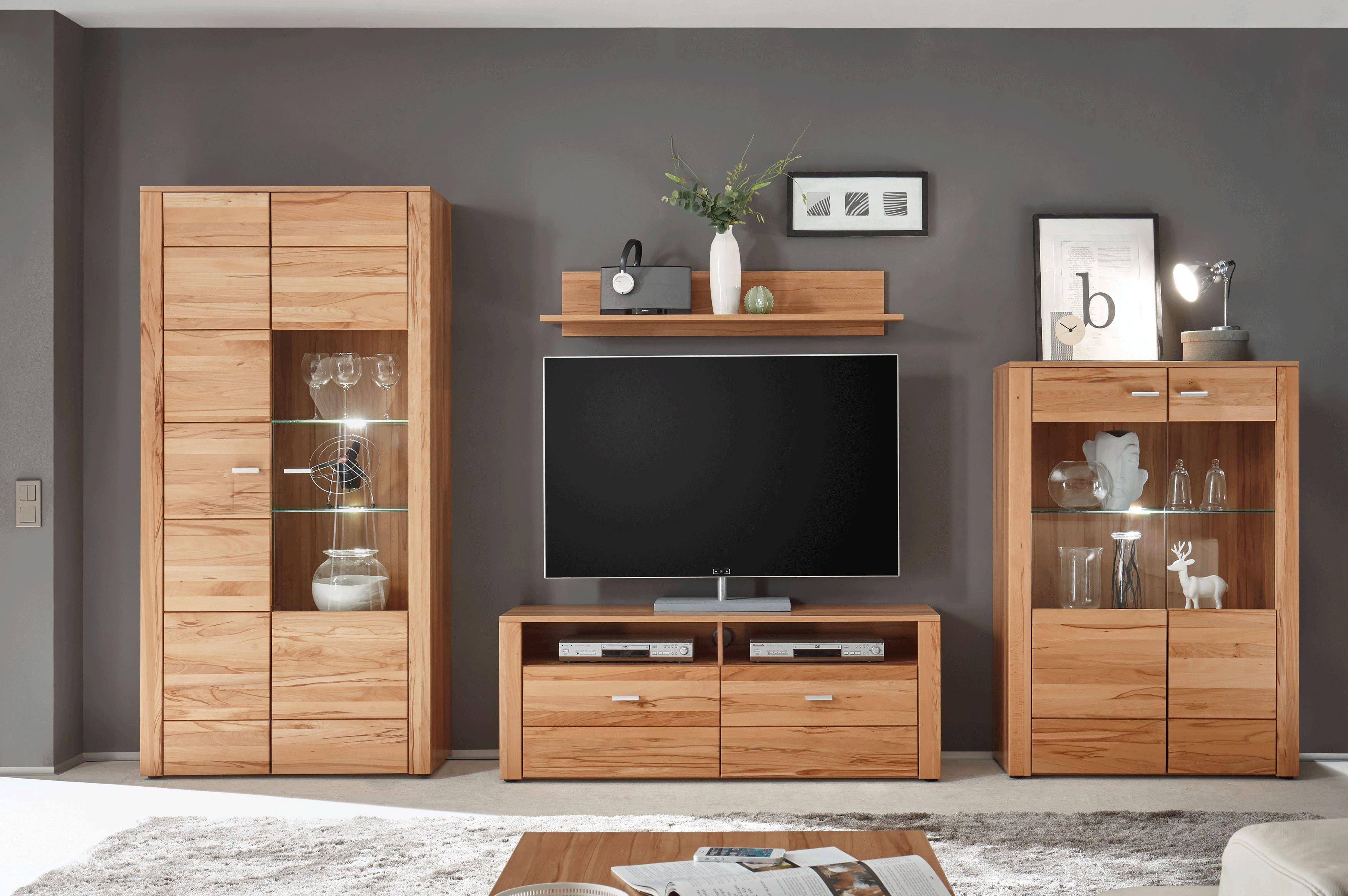 wohnwand buche teilmassiv minimalist0. Black Bedroom Furniture Sets. Home Design Ideas