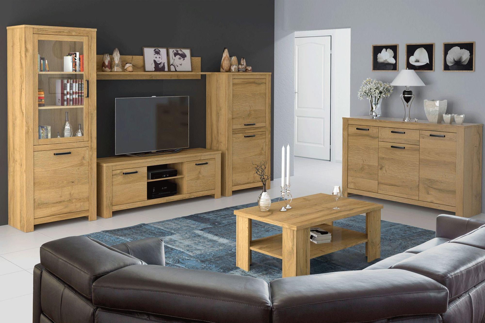 wohnwand havanna alteiche von forte m bel letz ihr online shop. Black Bedroom Furniture Sets. Home Design Ideas