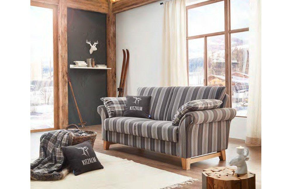 Schröno Jochberg Sofa grau gestreift | Möbel Letz - Ihr Online-Shop