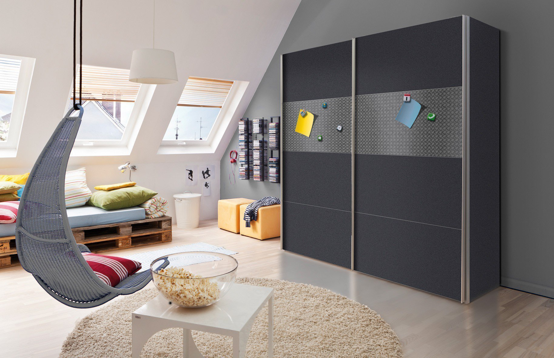 express magnetic schrank graphit magnetisch m bel letz ihr online shop. Black Bedroom Furniture Sets. Home Design Ideas