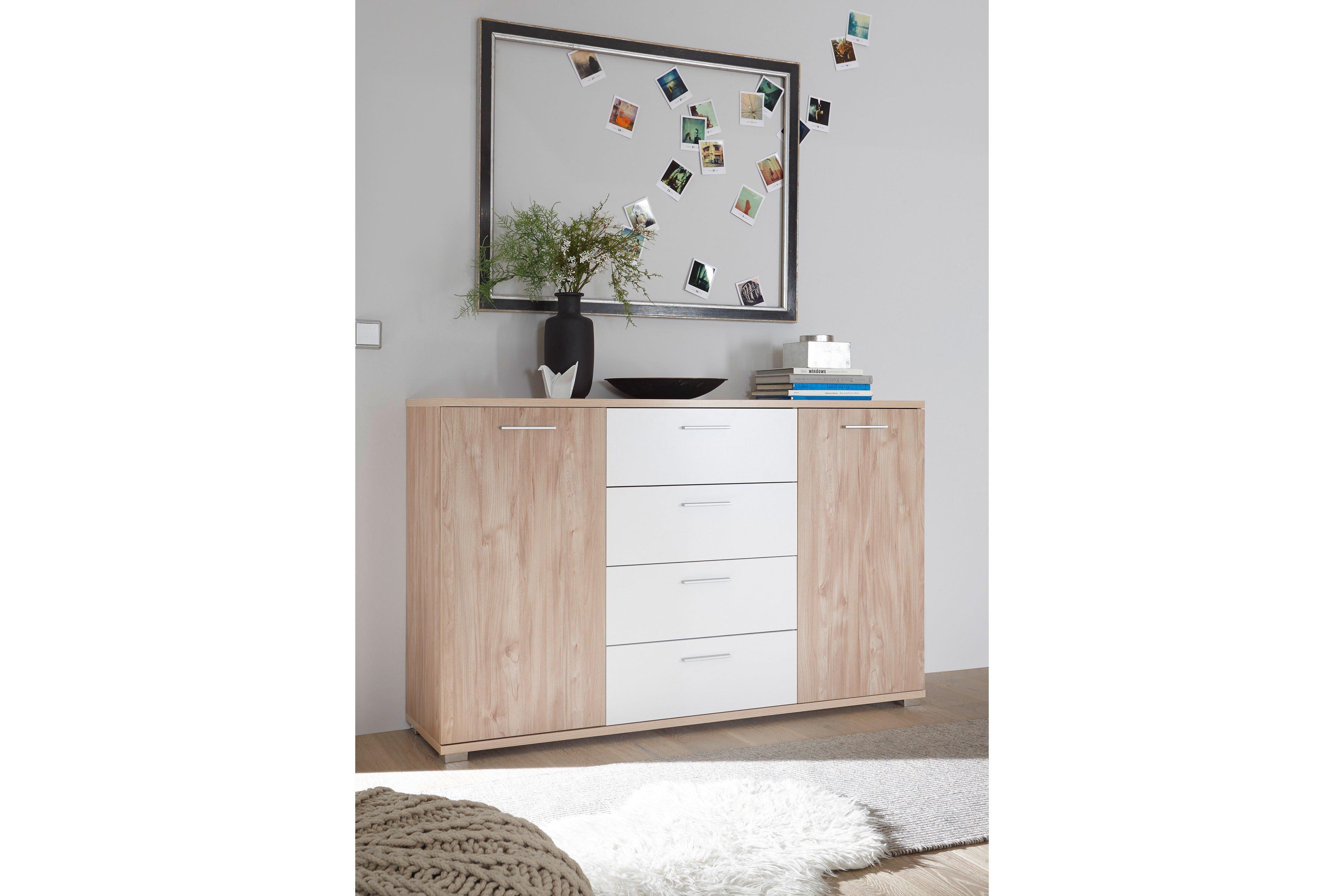 schlafkontor malibu kommode wei glas kara m bel letz ihr online shop. Black Bedroom Furniture Sets. Home Design Ideas
