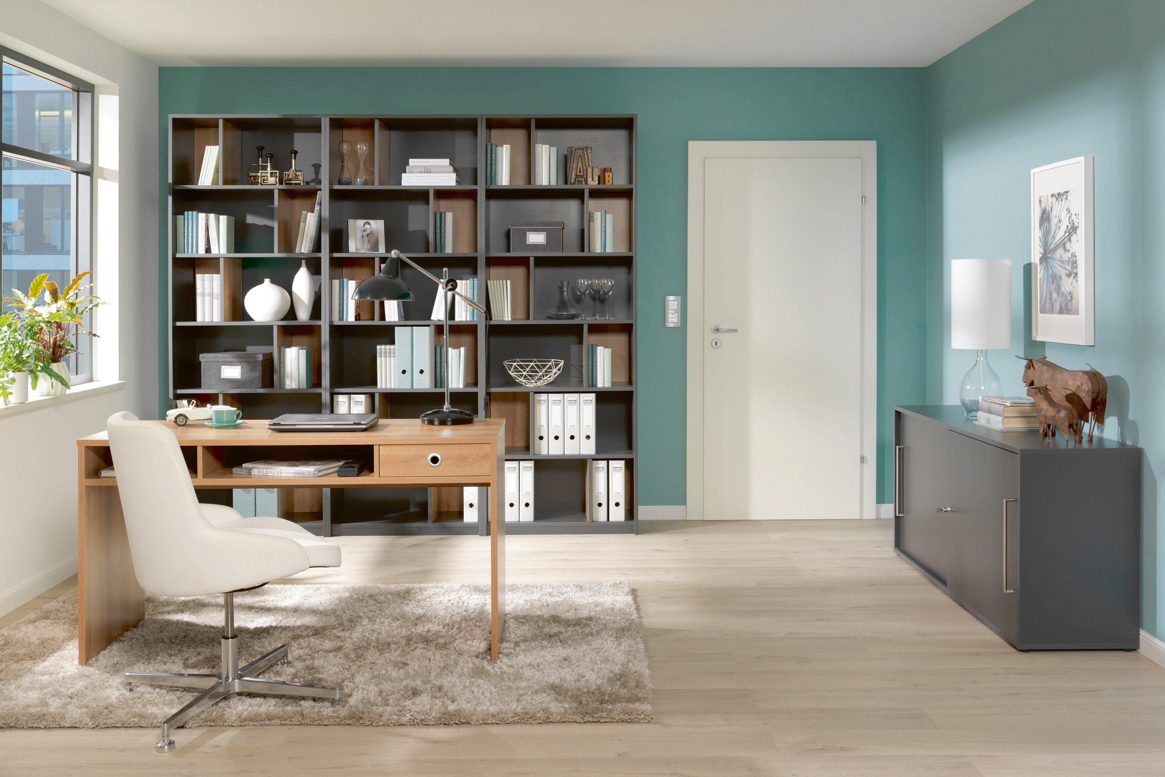 Welle Büromöbel Planeo Eiche-anthrazit | Möbel Letz - Ihr Online-Shop