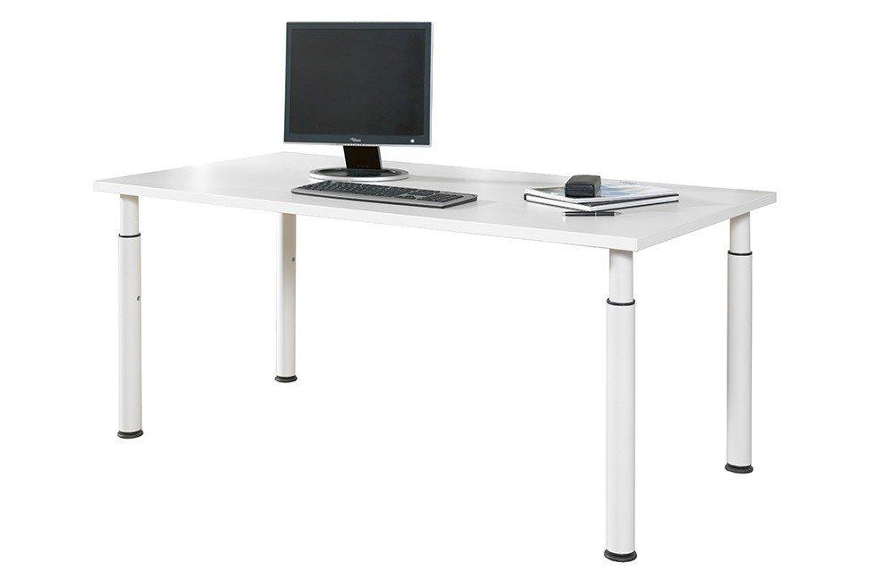 Welle Planeo Schreibtisch weiß   Möbel Letz - Ihr Online-Shop