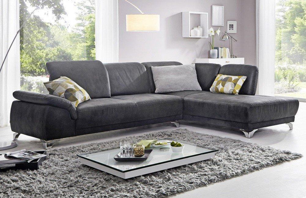 EMP Extasy 398 Eckcouch in Grau   Möbel Letz - Ihr Online-Shop